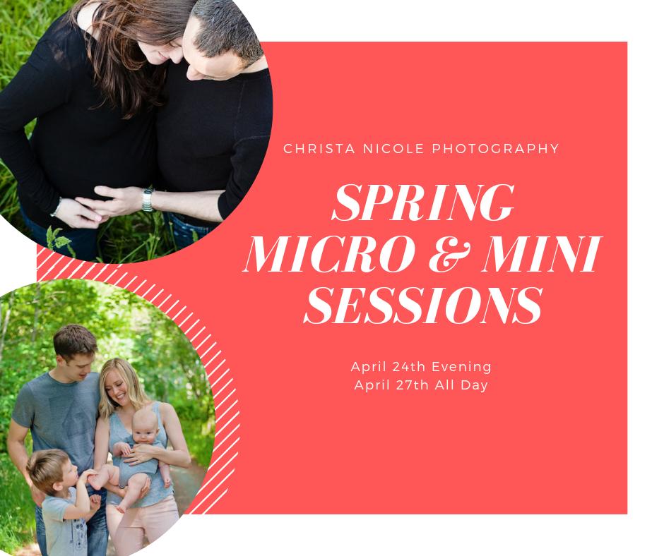 Spring micro & Mini sessions